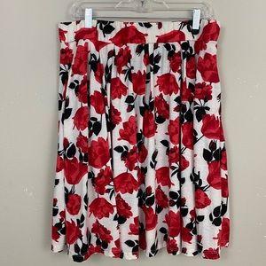 NWT LULAROE Madison Rose Print Skirt